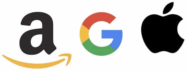 Amazon Google Apple