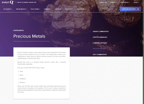 AnalystQ Reviews - Precious Metals