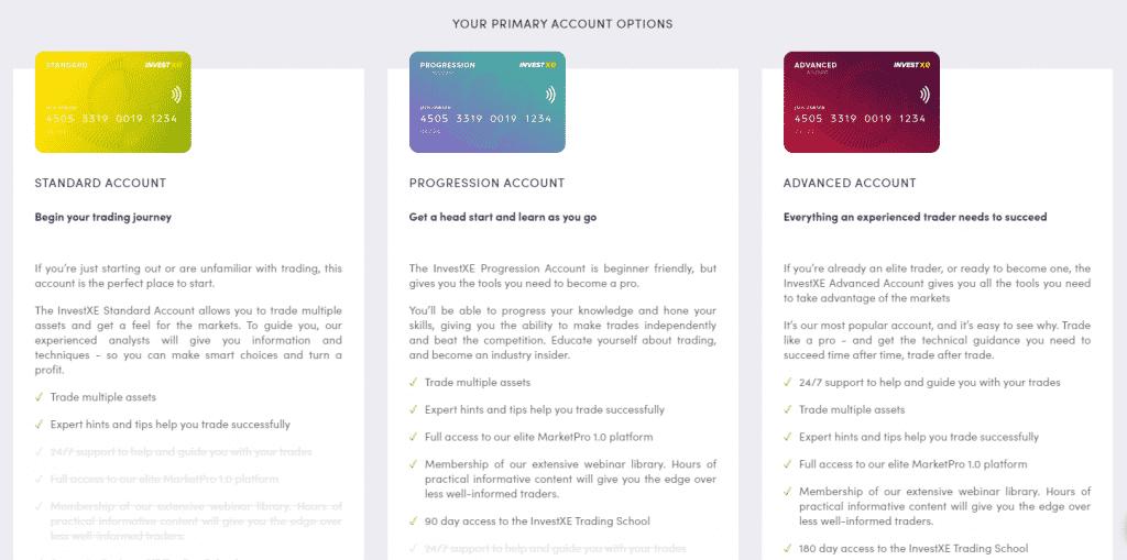 InvestXE Review- Primary Accounts